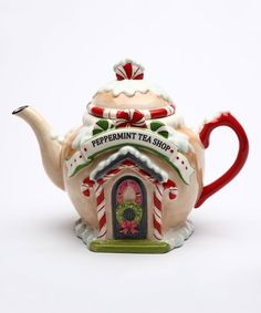 Sugar High Social Peppermint Tea Shop Teapot | zulily