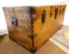 Brass Bound Camphor Wood Travelling Trunk - P&OSN - Antiques Atlas