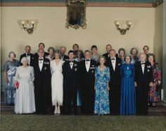 1988-01-26 Diana and Charles in a Group Portrait, with the Governors of Australia and their wives, to commemorate the visit to Australia