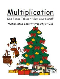 FREE! Christmas Multiply By One Multiplication Center Game