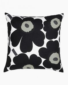 The Pieni Unikko cushion cover is by the Finnish design brand Marimekko with the classic Pieni Unikko pattern that is found on many of Marimekko's products. The pattern was designed by Maija Isola and Kristina Isola and is available in a number of colors. Marimekko, Modern Throw Pillows, Decorative Pillows, Toss Pillows, Accent Pillows, Design Shop, Cushion Covers, Pillow Covers, Classic Cushions