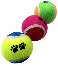 GoodPooch 3pc High Quality Pet Tennis Balls Fetch Throw Chew Dog Balls Toys -- Continue to the product at the image link. (Note:Amazon affiliate link)