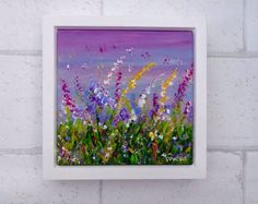 A personal favourite from my Etsy shop https://www.etsy.com/uk/listing/484057012/floral-painting-purple-art-flower-wall