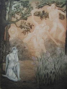 Art - Symbolism - Ghislaine de Menten de Horne - Memories of Love Polaroid, Scary Tales, Esoteric Art, Spooky Places, Pre Raphaelite, Photo Illustration, Illustrations, Various Artists, Occult