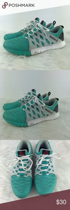 7b4d89b16927 Reebok Nanoweb 9 CrossFit Running Shoes Aqua White Very good used  condition. Lightweight. Please let me know if you have any questions.