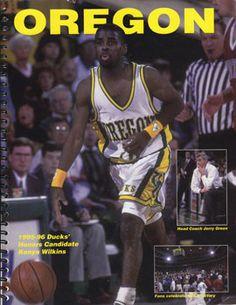 1995 Oregon media guide with Kenya Wilkins on the cover. Basketball History, Ducks, Kenya, Oregon, Baseball Cards, Cover, Sports, Image, History Of Basketball