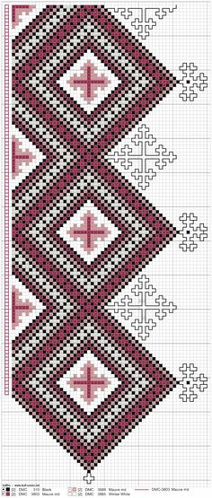 Mønster til kvarder Hardanger Embroidery, Embroidery Patterns, Christmas Embroidery, Perler Beads, Needlepoint, Bohemian Rug, Needlework, Diy And Crafts, Cross Stitch