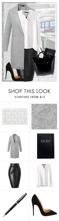 """""""Corporate Chic (BH3)"""" by boho-at-heart ❤ liked on Polyvore featuring CB2, Brewster Home Fashions, Montblanc, Christian Louboutin, Massimo Castelli and beautifulhalo"""