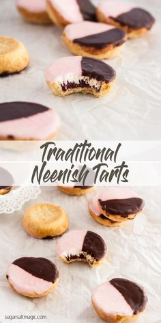 Neenish Tarts are a small pastry tart, layers of jam and mock cream filling and topped with two-tone icing. #australiaday #australiadayfood via @sugarsaltmagic