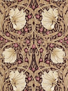 Sanderson Wallpaper, Morris & Co Pimpernel, Fig / Sisal, 210390