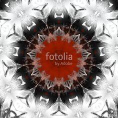 Mandala 97 mit Effekten in Rot und Schwarz auf weißem Hintergrund, Gothic, Grunge, Vampire, Horror, Masken, Illusionen, Kreaturen, tattoo, abstrakte Kunst, Ornament, Muster