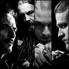 Kim Coates, Tommy Flanagan, Theo Rossi & Charlie Hunnam.