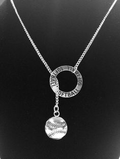 Infinity I Love Softball Mom Forever Circle Y Lariat Necklace on Etsy Softball Necklace, Softball Jewelry, Softball Crafts, Softball Quotes, Softball Pictures, Softball Players, Girls Softball, Fastpitch Softball, Baseball Mom