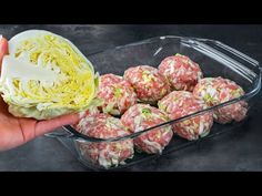 (85) They melt in your mouth! Add cabbage in meatballs and then put them in the oven! - YouTube