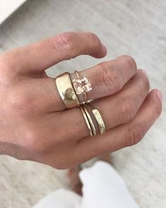 This combo. Cute Jewelry, Jewelry Accessories, Jewelry Design, Jewlery, Piercings, Wedding Ring Bands, Bling, Engagement Rings, Gemstones