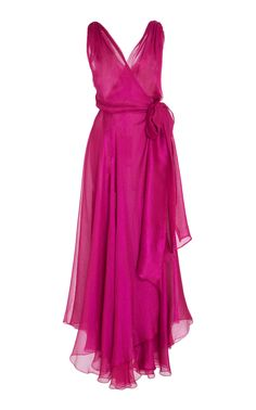 Maria Lucia Hohan  Rosana Metallic Mousseline Wrap Dress