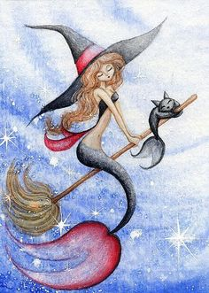 Witchy Mermaid and Black Mercat