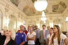 La visita de Las Leonas revolucionó el mediodía en Casa de Gobierno