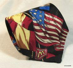 McDonald's Collection Necktie Tie Flags American Flag 1994 MBP Jaquard EUC #mcdonalds #mcdonaldstie #necktie #mcdonaldsnecktie