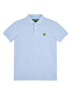 4cc0f5f43 Lyle & Scott Boys Classic Polo - Blue Marl Lyle Scott, Polo Blue, Streetwear