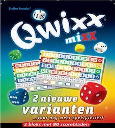 Qwixx Mixx, MeepleLand 2 nieuwe varianten voor nog meer spelplezier *** 2 extra scorebloks met 80 blaadjes per stuk (160 in totaal) voor het populaire dobbelspel en kaartspel QWIXX ***