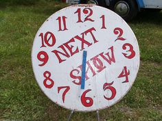RARE Authentic Circus Sideshow Show Time Clock Prop Freak Oddity Magic Carnival