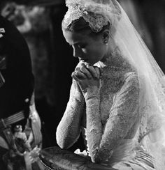 Simply beautiful   Princess Grace's dress is one of the all time top 5 dresses still talked about and designed after.