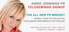 Publicity Book Promotion Teleseminar The All New PR Mindset
