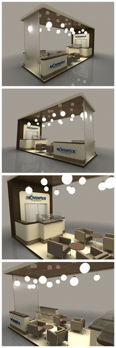 Movenpick Exhibition Stand on Behance Kiosk Design, Display Design, Cafe Design, Retail Design, Store Design, Exhibition Stand Design, Exhibition Display, Expo Stand, Displays