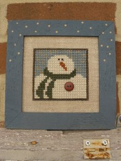 Snowman Portrait by CMyHappyPlace on Etsy, $22.00