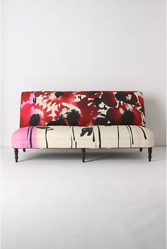 digitally printed fabric on Anthropologie sofa