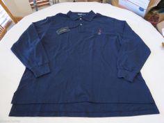 Polo Ralph Lauren The Mesh shirt long sleeve Men's 4386424 3XB Big Navy red logo