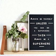 Great for notes to self and messages to visitors, the vintage-style Message Board from Three Potato Four will have you waxing poetic in style. Word Board, Quote Board, Message Board, Letter Board, Inspiring Quotes About Life, Inspirational Quotes, Daily Quotes, Life Quotes, Superhero Letters