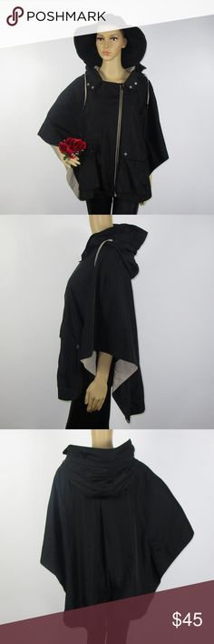 Steve Madden Black Tan Poncho Jacket Rare Sz Large This beautiful poncho is in excellent condition! As always offers and bundles are welcome. Feel free to add one or more items to a bundle for a private discount offer!!! Steve Madden Sweaters Shrugs & Ponchos
