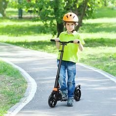 This scooter is suitable for kids aged over 8 years, teens and adults. With adjustable handlebar, this scooter can be used by people of different height. Kick Scooter, Tricycle, Perfect Body, Shoulder Strap, Kicks, Teen, Sport, Black, Fitness
