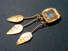 ANCIENT GOLD & GLASS PENDANT ROMAN 100-300 AD  | eBay