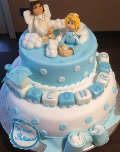 Torta battesimo in Pasta di Zucchero Chiffon Cake con Crema Chantilly
