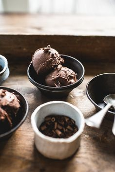 Chocolate Chia Ice Cream on Top With Cinnamon