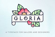 Gloria #Typeface by Nice To Must Have on @creativemarket