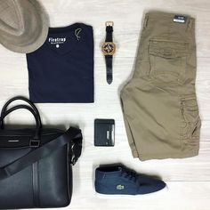 Mix it up with your accessories. This bag suits a serious work day or throw a few things in it for an overnight stay some place fun. Simple.   #trampsmenswear #wollongong #flatlay #casualwear
