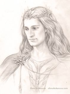Famous Noldor: Finarfin by ekukanova.deviantart.com. Finarfin was the youngest son of Finwë and Indis. After the Kinslaying of his wife Eärwen's people at Alqualondë, he returned to Valinor with a small group of his people; his 4 children, though, would not forsake the sons of Fingolfin and went on. Finarfin ruled the Noldor who remained in Aman