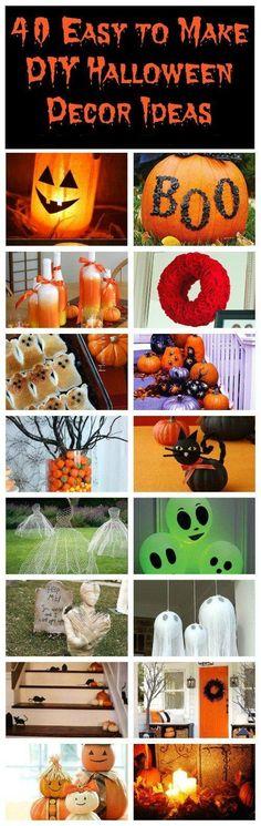 40 Easy to Make DIY Halloween Decor Ideas