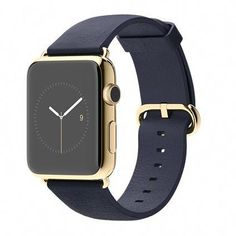 5a79f5a1e5a8 Apple Watch Edition - 42mm 18-Karat Yellow Gold Case with Midnight Blue  Classic Buckle