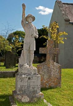 This beautiful little Boy Scout memorial is in the Churchyard at Denbury, near Newton Abbot. It commemorates Thomas Butler who was the Assistant Scoutmaster of St Mary's Boy Scout Troop until he died aged 24 in 1932 and records the mement that a scout takes his oath.