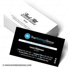 Clean and modern for sale sign design print for murray real estate business card design brand development for leon klaiman at the klaiman group forest hill reheart Gallery