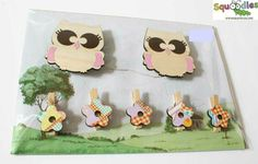 Our Owl wall art pegs are the perfect way to display your child's masterpieces, favourite photos, notes etc  NZ$29.00 from Squoodles http://squoodles.co.nz/products/kids-wall-art-pegs/