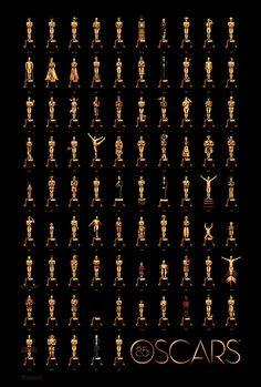 *85th Anniversary Oscars Poster by Olly Moss - http://streetsofbeige.blogspot.com/2013/02/85th-anniversary-oscars-poster-by-olly.html