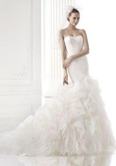 Pronovias 2015 Collection - Sweetheart neckline wedding dress.  Available at Designer Bridal Room