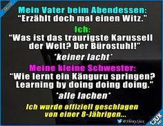 Ok, sie hat verdient gewonnen ^^ #Witze #Witz #Flachwitze #Flachwitz #Humor #lustig #lachen