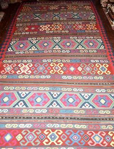Size: x x Antique Caucasian Kuba kilim. Circa A superb Kilim of classic Kuba region design. The kilim has bands of embroidered work running across it. Excellent condition with slight even wear. A kilim of large size Cost Of Carpet, Cheap Carpet Runners, Kilim Cushions, Friends In Love, Bohemian Rug, Rugs, Antiques, Handmade, Ebay